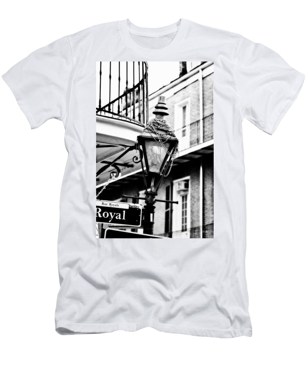 Black & White Men's T-Shirt (Athletic Fit) featuring the photograph Dressed For The Party- Bw by Scott Pellegrin
