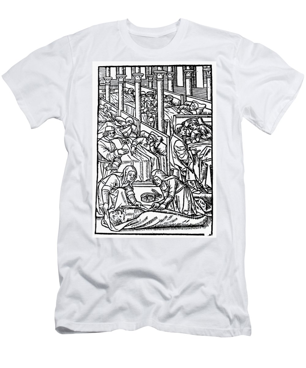 1500 Men's T-Shirt (Athletic Fit) featuring the photograph France: Hospital, C1500 by Granger