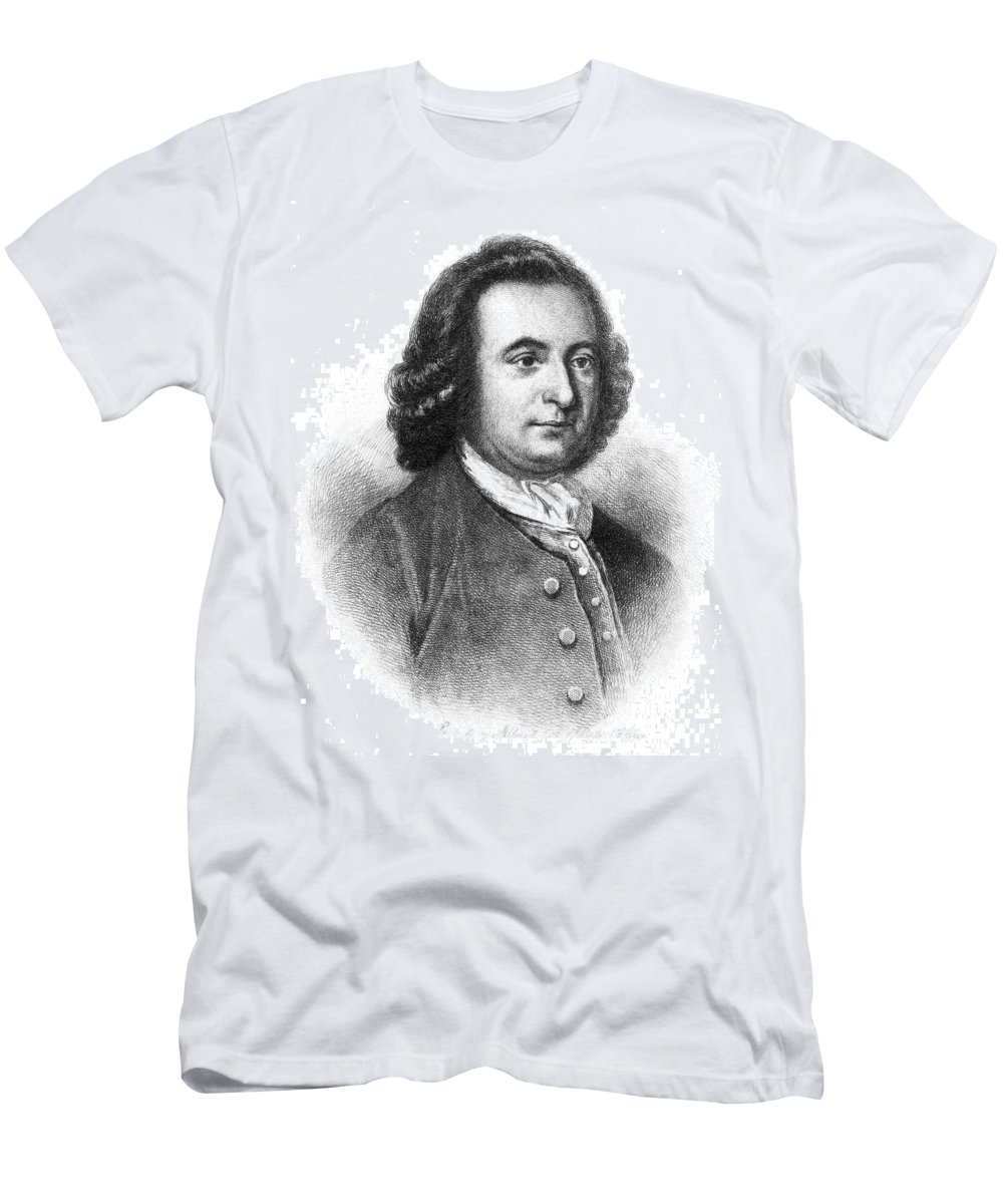 18th Century Men's T-Shirt (Athletic Fit) featuring the photograph George Mason (1725-1792) by Granger