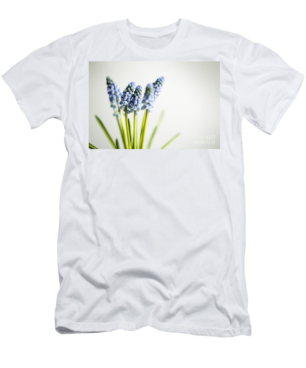 Hyacinth Men's T-Shirt (Athletic Fit) featuring the photograph Grape Hyacinth by Nailia Schwarz