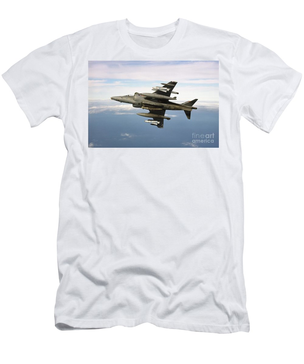 Banking Men's T-Shirt (Athletic Fit) featuring the photograph Harrier Gr7 by Paul Fearn