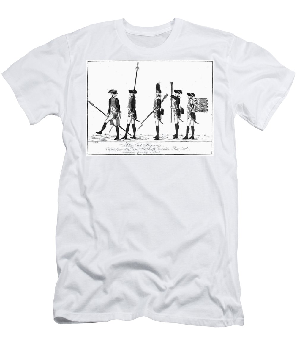 18th Century Men's T-Shirt (Athletic Fit) featuring the photograph Hessian Soldiers by Granger