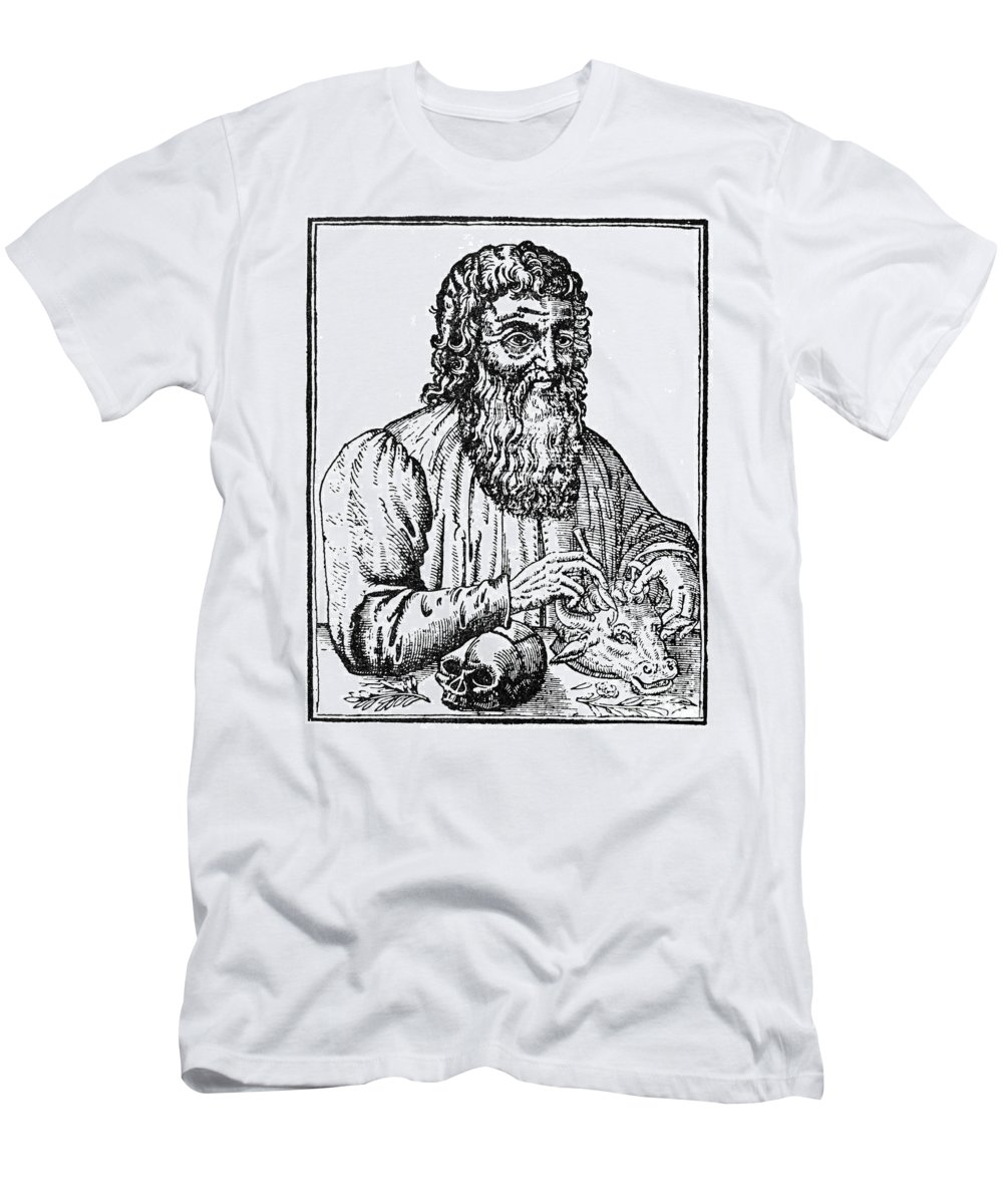 1561 Men's T-Shirt (Athletic Fit) featuring the photograph Hippocrates (c460-c377 B.c.) by Granger