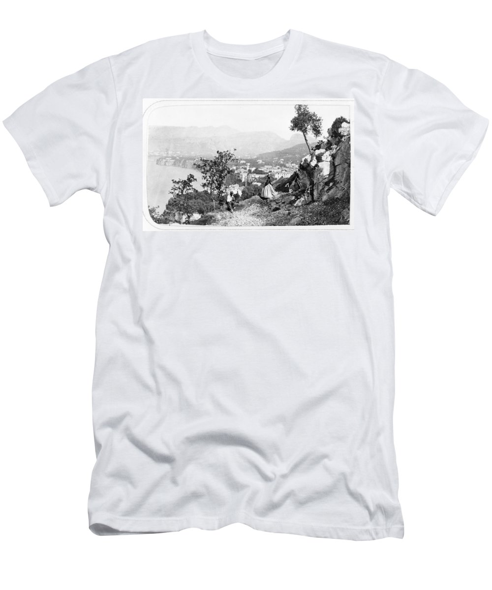 1860s Men's T-Shirt (Athletic Fit) featuring the photograph Italy Sorrento, C1869 by Granger