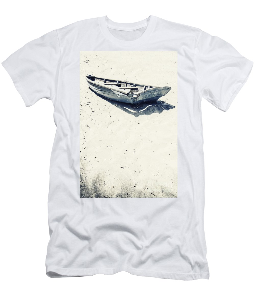 Boat Men's T-Shirt (Athletic Fit) featuring the photograph Left by Margie Hurwich