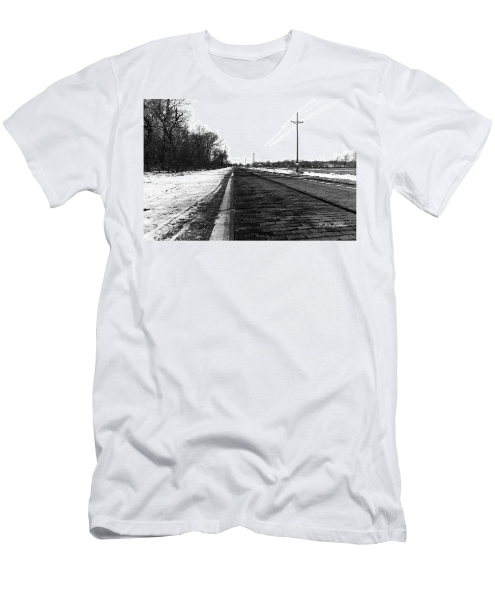 Lincoln Highway Men's T-Shirt (Athletic Fit) featuring the photograph Lincoln Highway by Edward Peterson