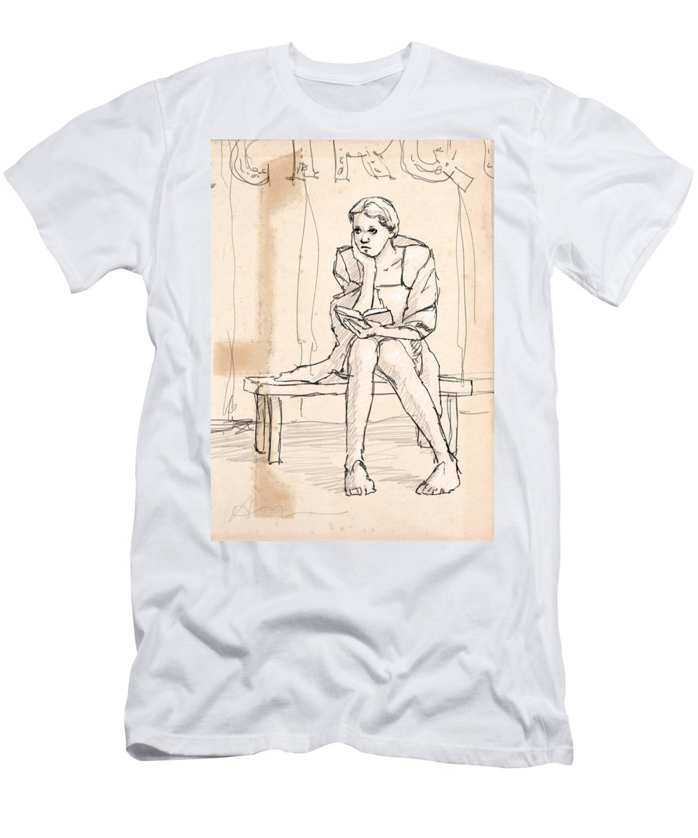 Woman Men's T-Shirt (Athletic Fit) featuring the digital art Lost by H James Hoff