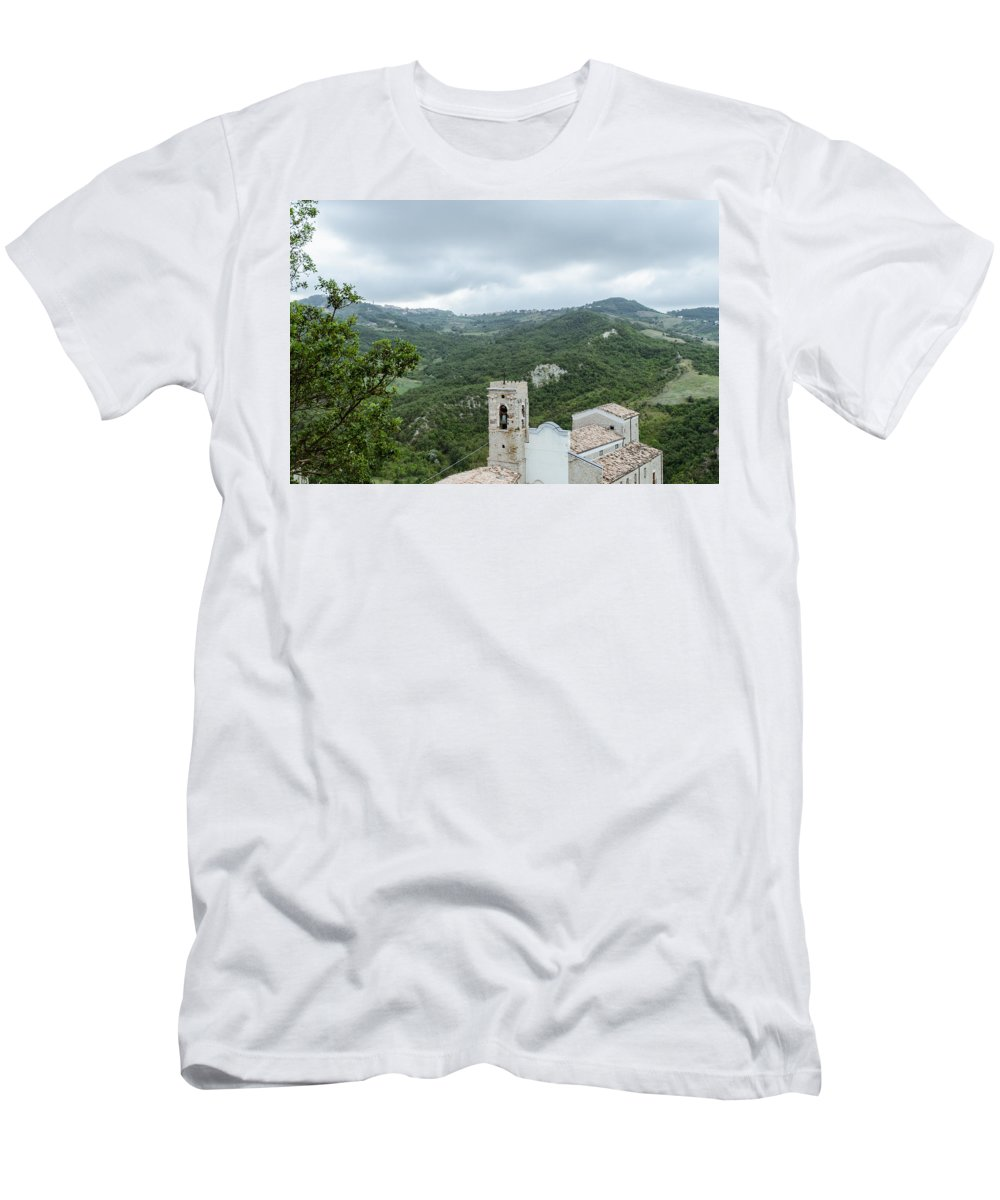 Landscape Men's T-Shirt (Athletic Fit) featuring the photograph Memories by Andrea Mazzocchetti