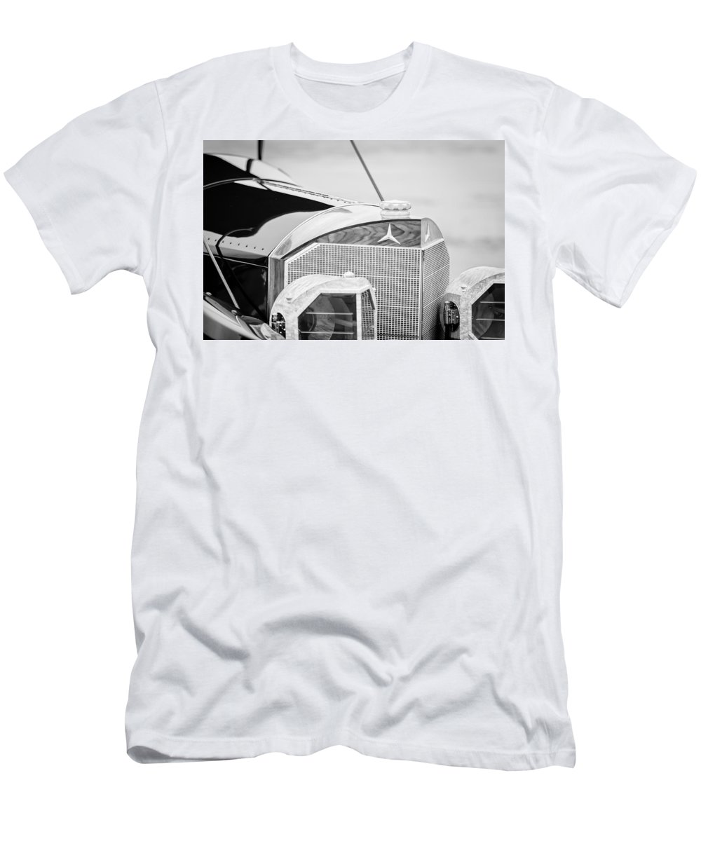 Mercedes-benz Grille Men's T-Shirt (Athletic Fit) featuring the photograph Mercedes-benz Grille by Jill Reger