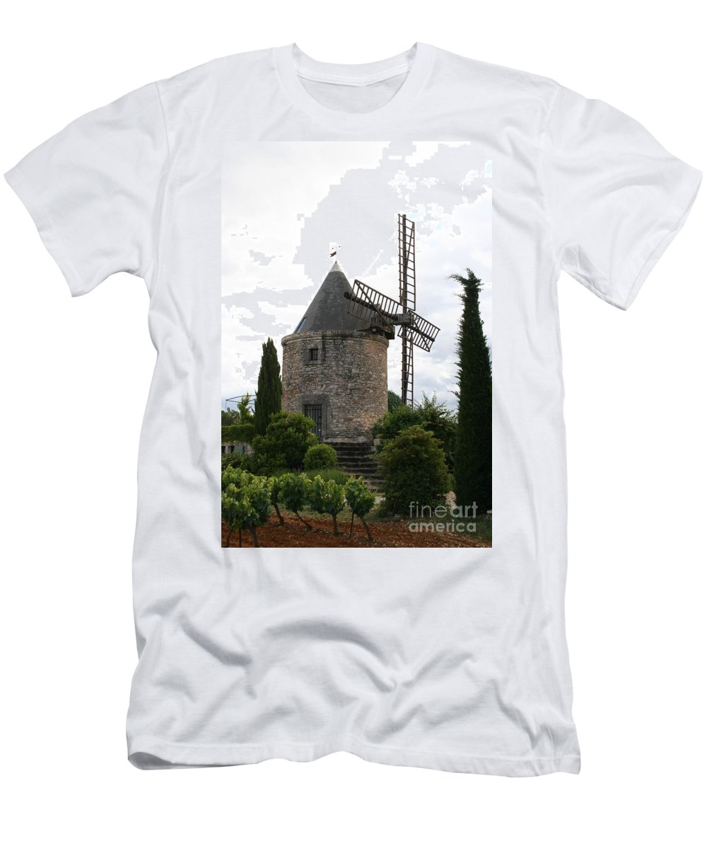 Mill Men's T-Shirt (Athletic Fit) featuring the photograph Old Provencal Windmill by Christiane Schulze Art And Photography