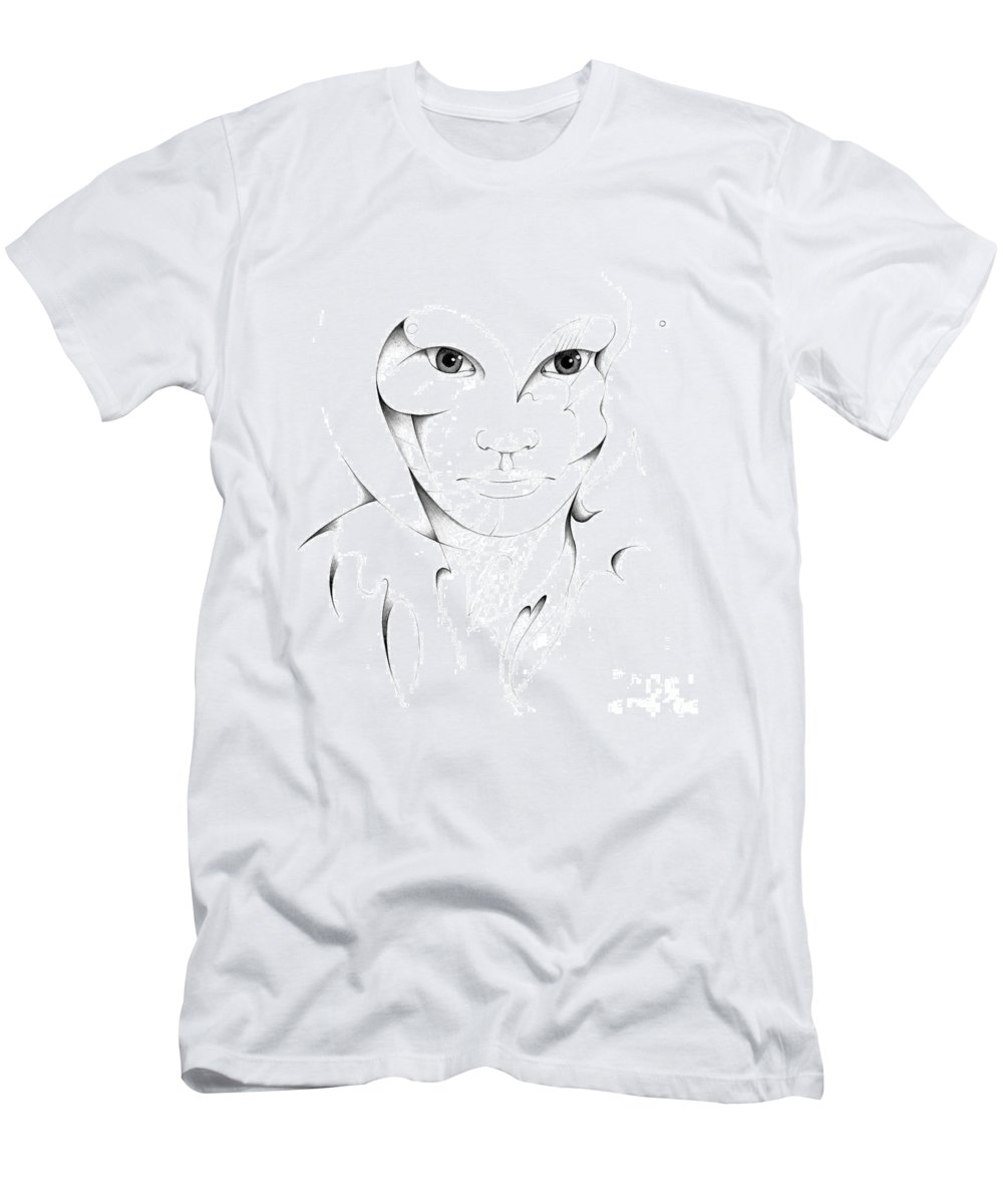 Portrait Men's T-Shirt (Athletic Fit) featuring the drawing Portrait by Nicholas Burningham