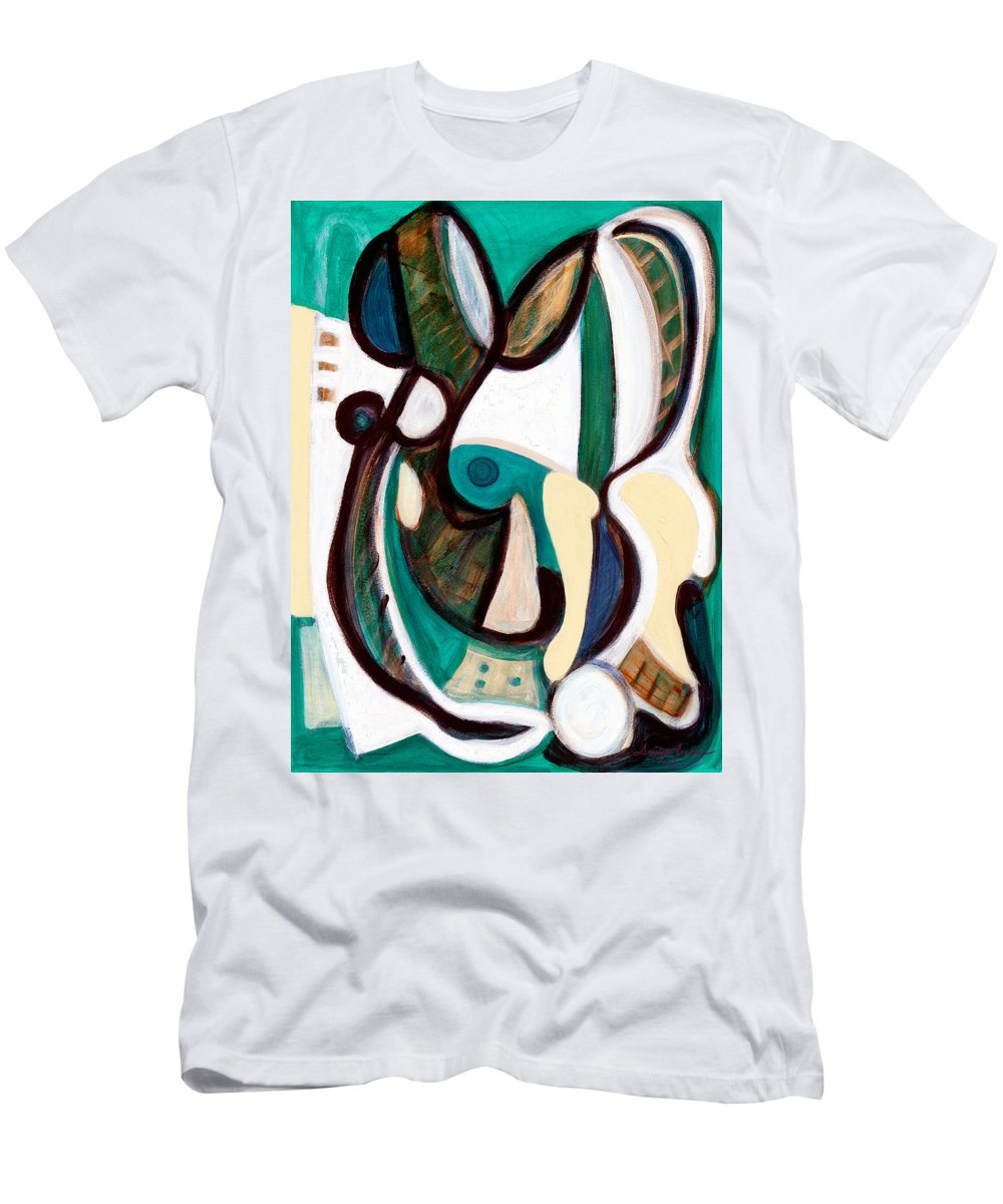 Abstract Art Men's T-Shirt (Athletic Fit) featuring the painting Portrait Of My Innocence by Stephen Lucas
