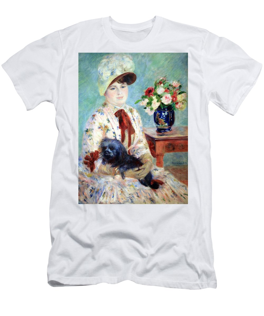 Mlle Charlotte Berthier Men's T-Shirt (Athletic Fit) featuring the photograph Renoir's Mlle Charlotte Berthier by Cora Wandel
