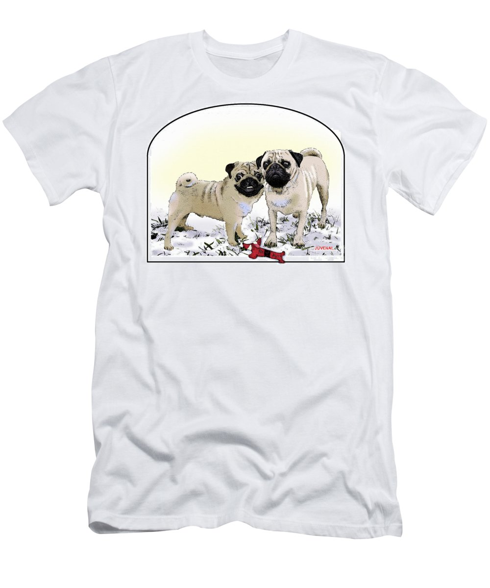 Canvas Prints Men's T-Shirt (Athletic Fit) featuring the drawing Ricky And Curly by Joseph Juvenal