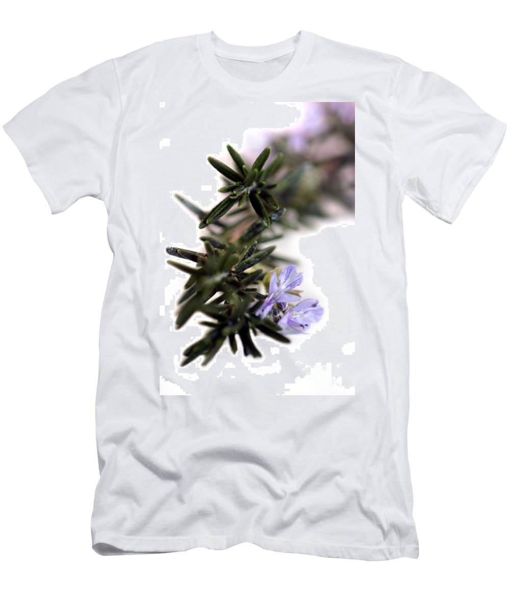 Aroma Men's T-Shirt (Athletic Fit) featuring the photograph Rosemary by Henrik Lehnerer