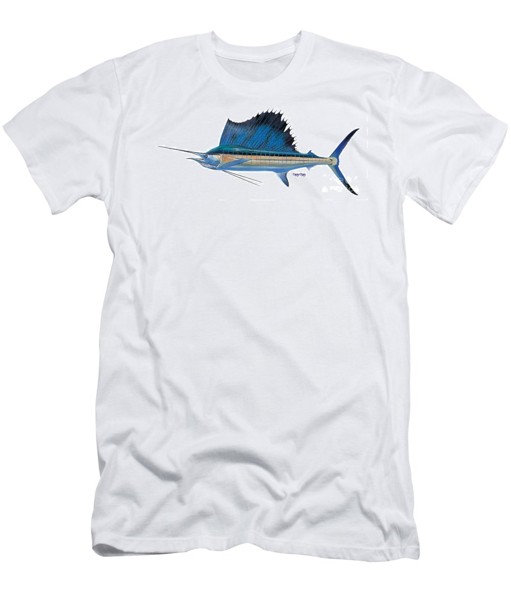 Sailfish T-Shirt featuring the painting Sailfish by Carey Chen