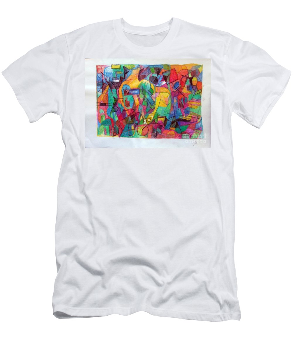 Torah Men's T-Shirt (Athletic Fit) featuring the drawing See by David Baruch Wolk