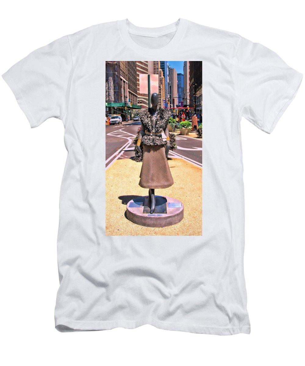 Broadway Catwalk Men's T-Shirt (Athletic Fit) featuring the photograph Sidewalk Catwalk 12 by Allen Beatty
