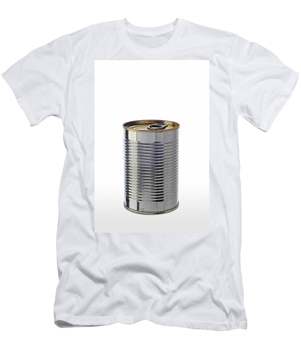 Iron Men's T-Shirt (Athletic Fit) featuring the photograph Simple Tin Can by Alain De Maximy