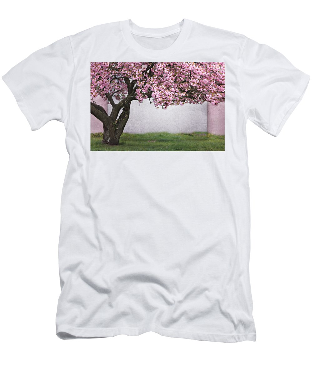 Flora Men's T-Shirt (Athletic Fit) featuring the mixed media Spring Feelings by Heike Hultsch