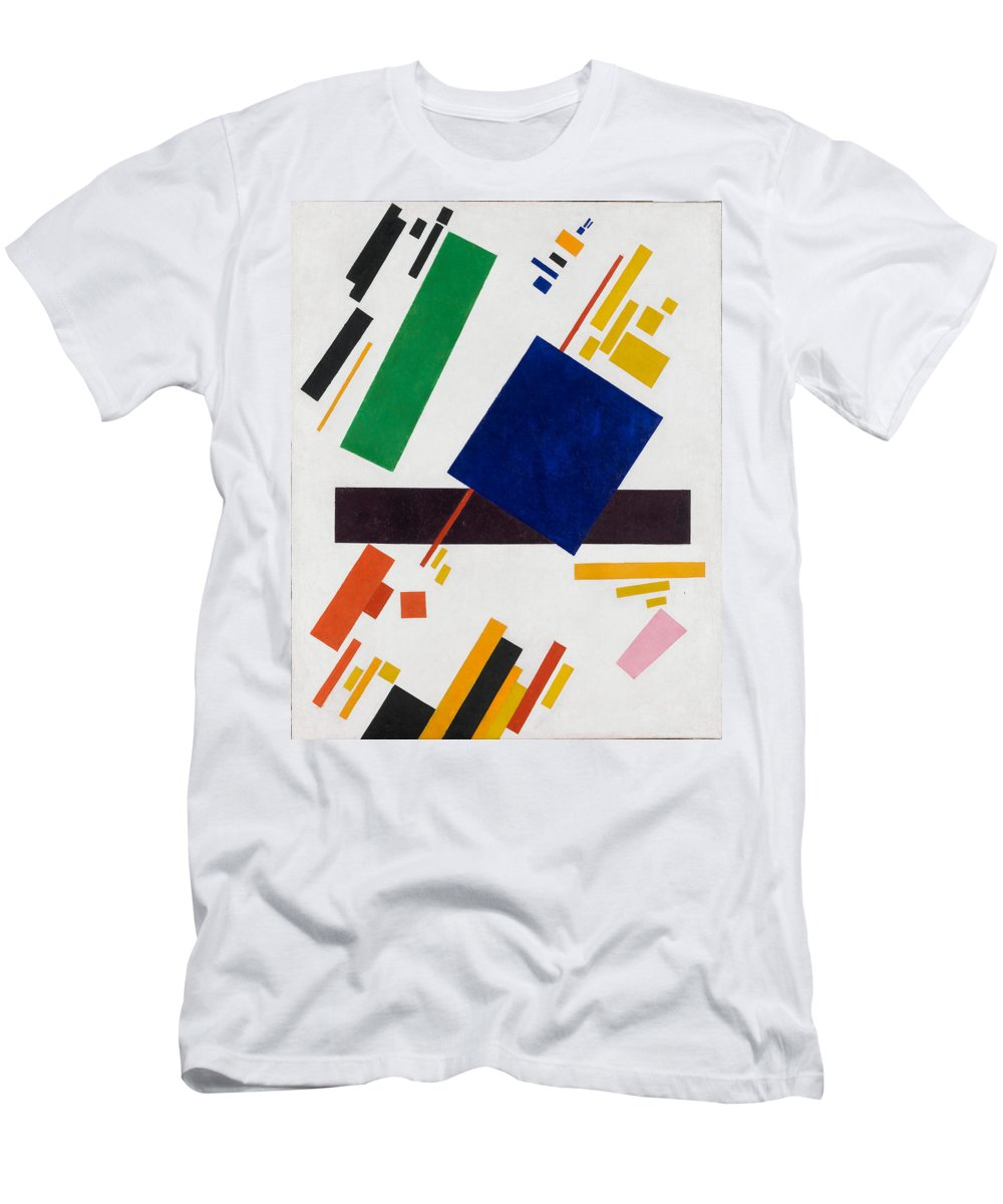Kazimir Men's T-Shirt (Athletic Fit) featuring the painting Suprematist Composition by Kazimir Malevich