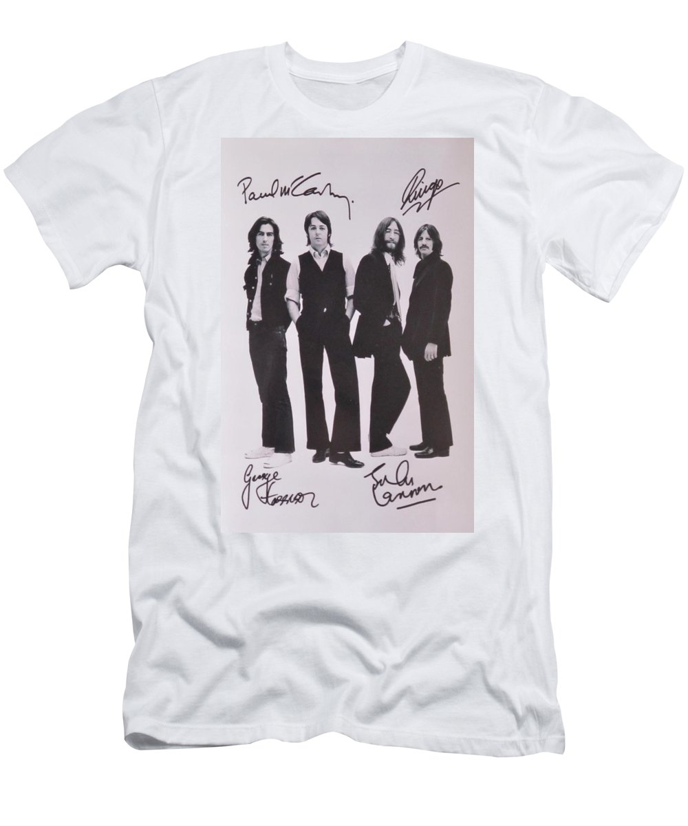 The Beatles T-Shirt featuring the photograph The Beatles by Donna Wilson