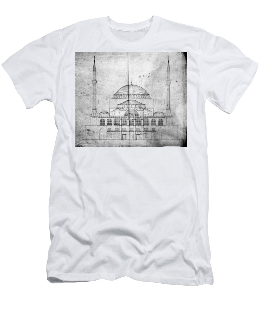 1830s Men's T-Shirt (Athletic Fit) featuring the photograph Turkey: Hagia Sophia, 1830s by Granger