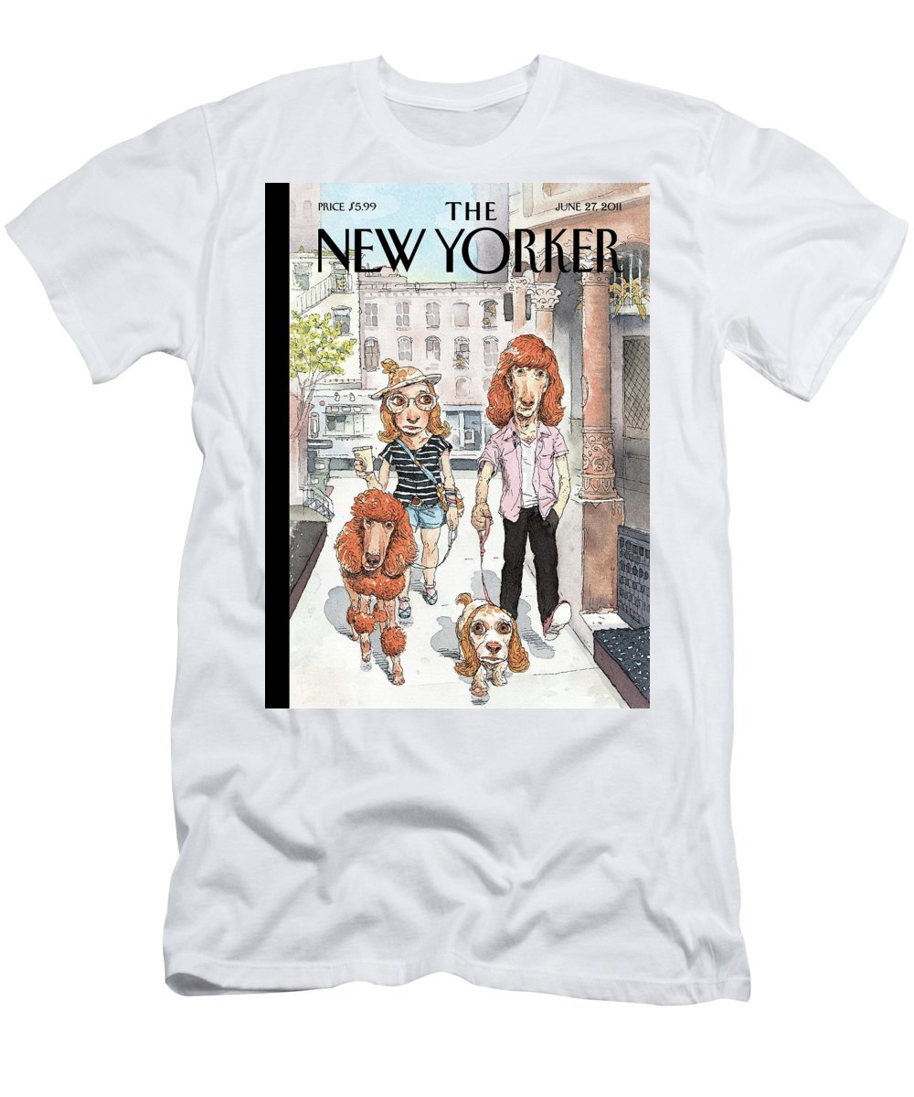Pets T-Shirt featuring the painting New Yorker June 27th, 2011 by John Cuneo