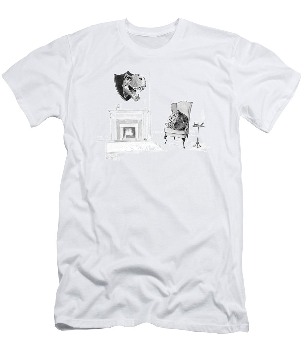 Dinosaur T-Shirt featuring the drawing New Yorker February 13th, 2017 by Will McPhail