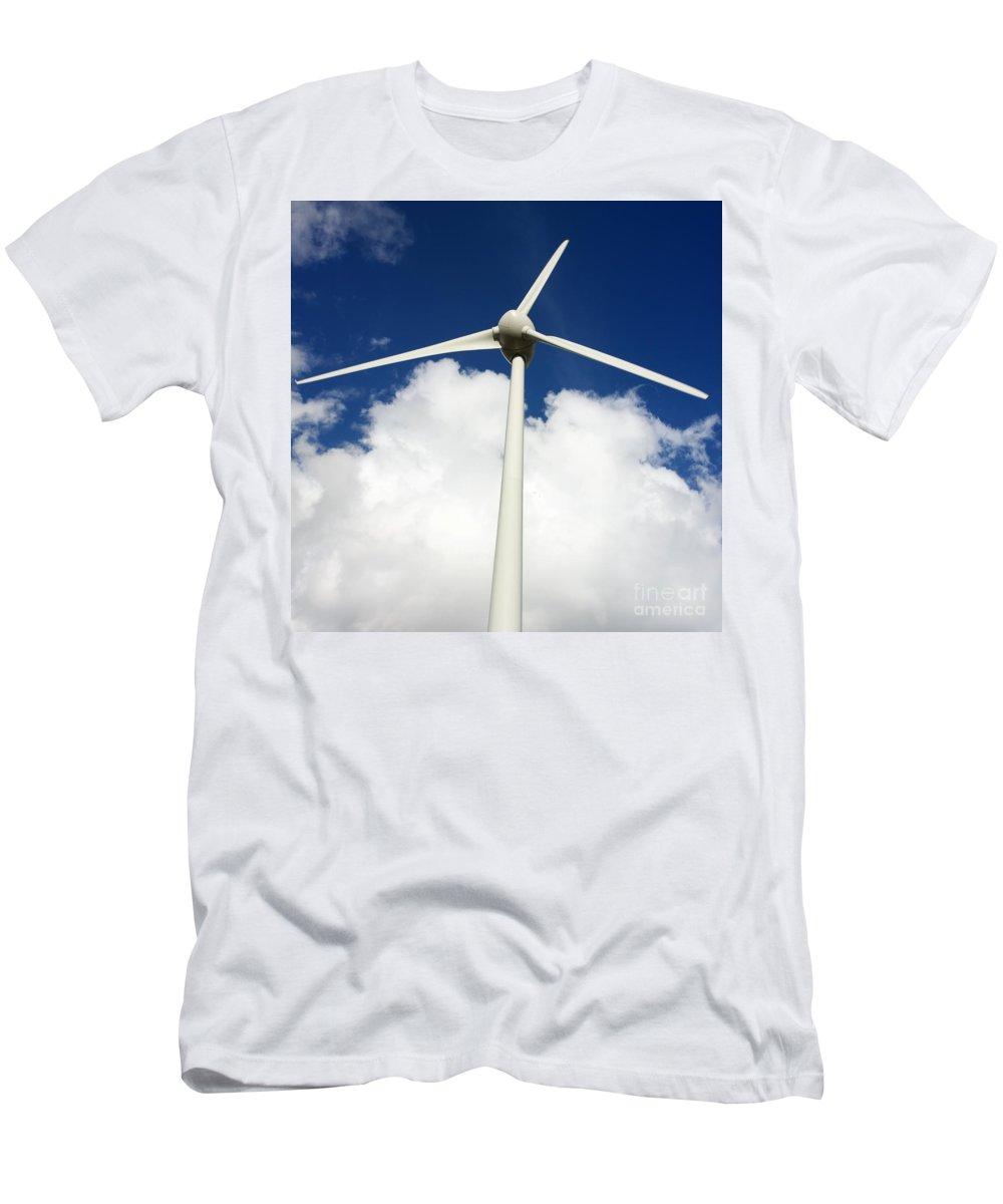 Alternative Men's T-Shirt (Athletic Fit) featuring the photograph Wind Turbine by Bernard Jaubert