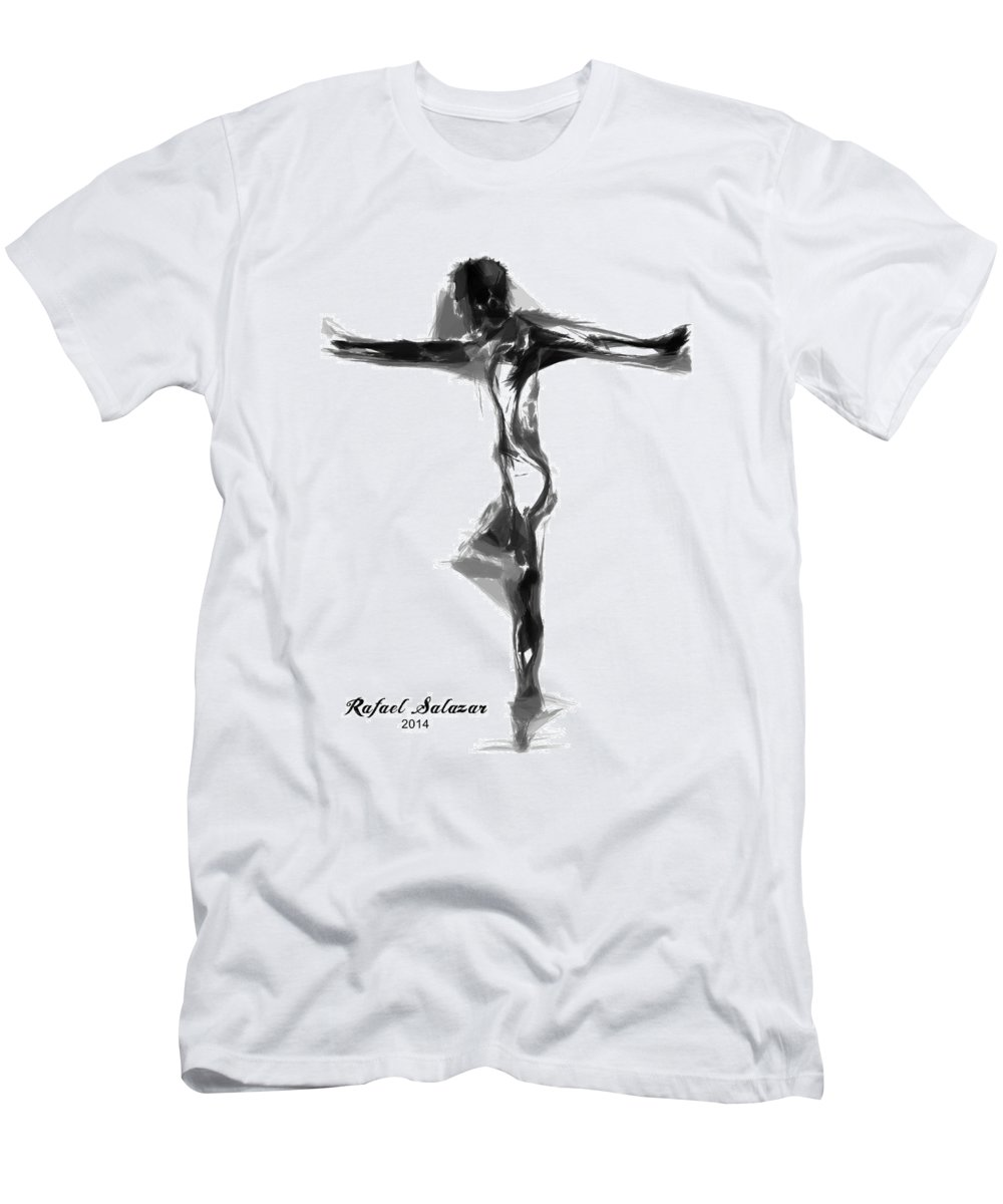 Abstract Men's T-Shirt (Athletic Fit) featuring the digital art Abstract Series I by Rafael Salazar
