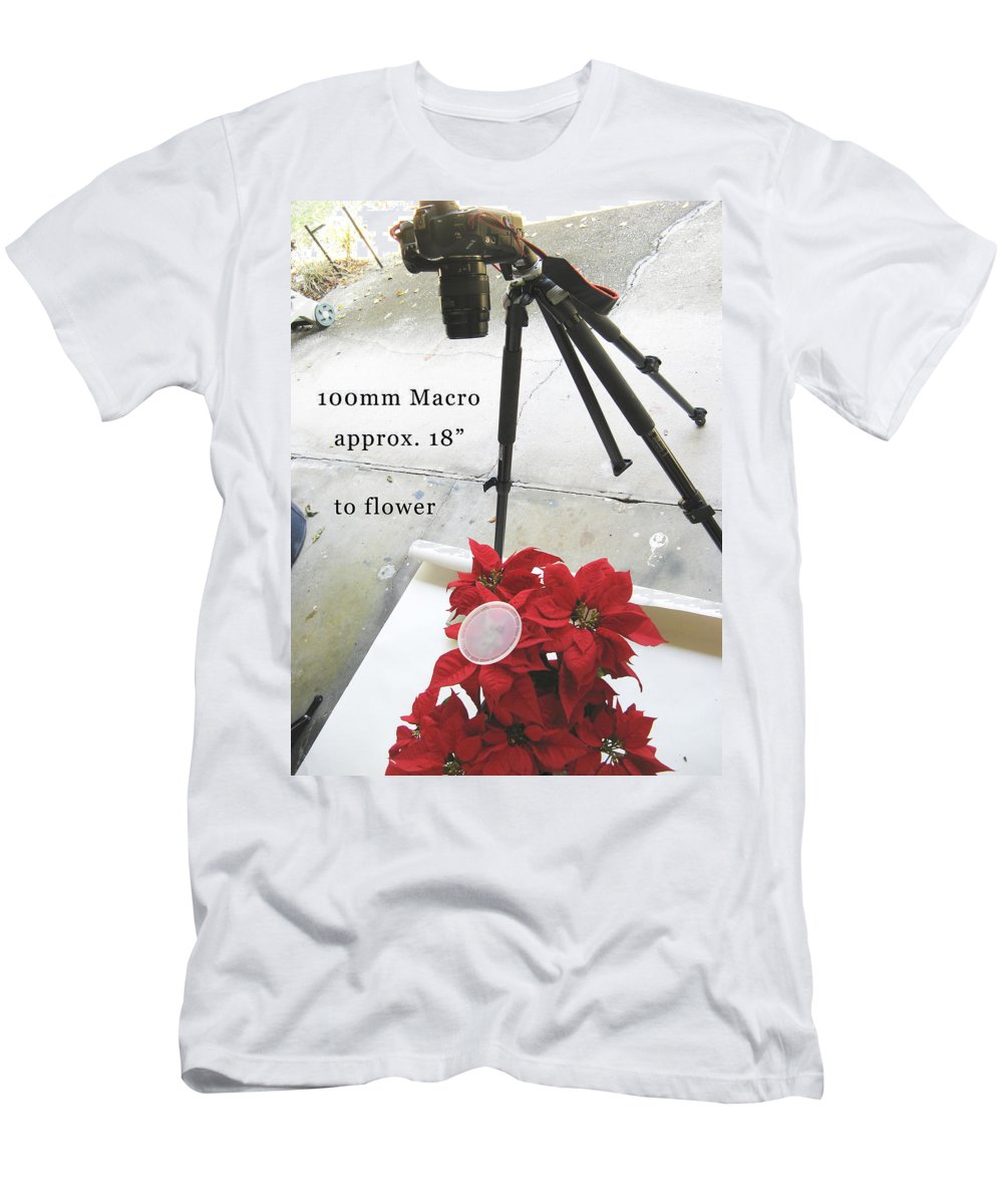 Men's T-Shirt (Athletic Fit) featuring the photograph 100mm Macro Test by Rich Franco