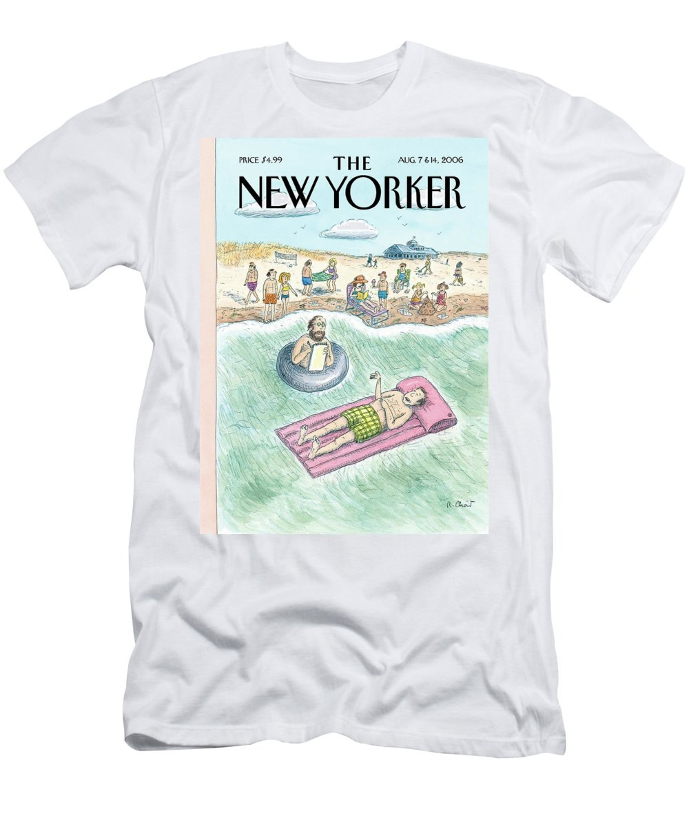 Vacation T-Shirt featuring the painting Emergency Session by Roz Chast