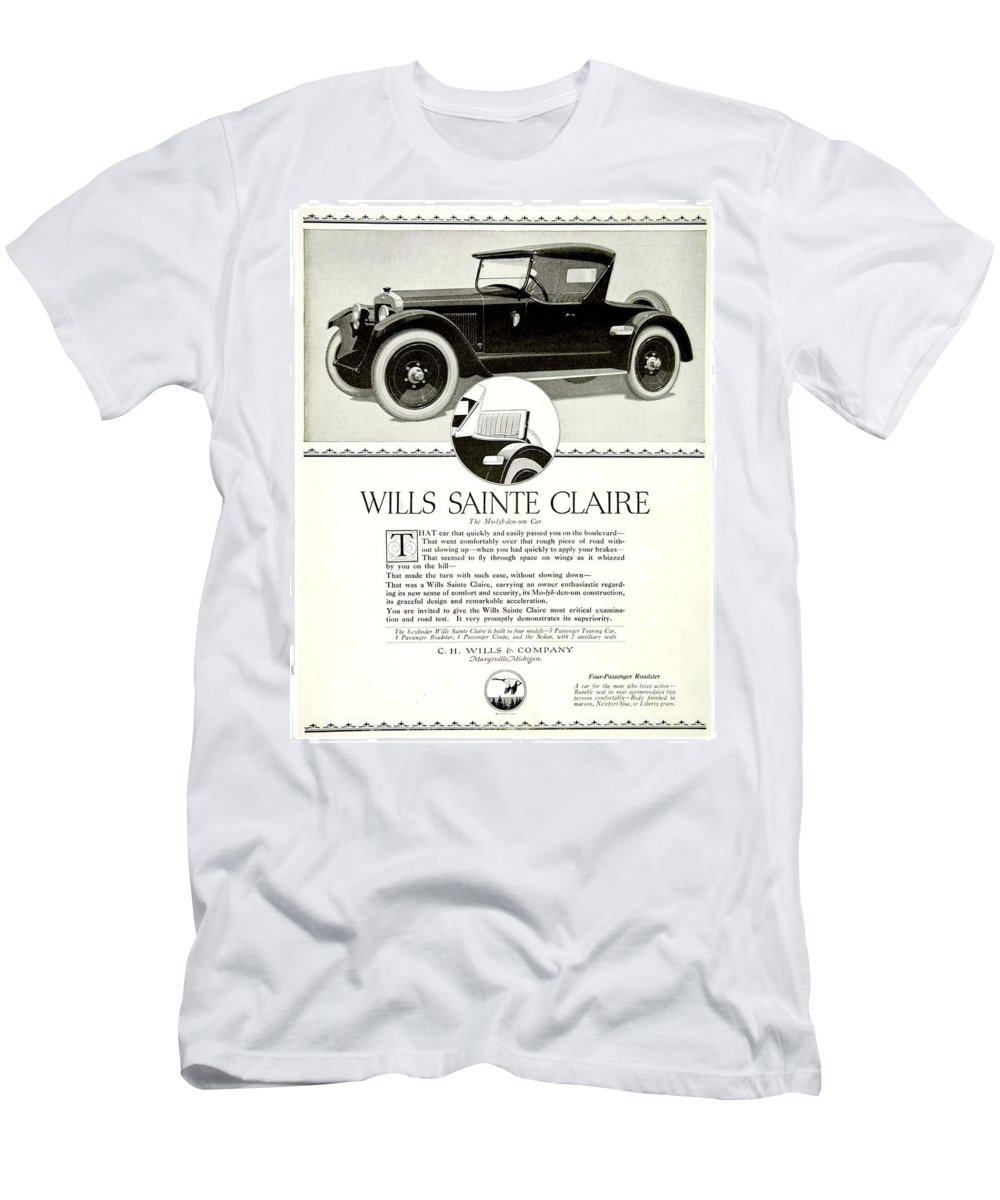 1921 Men's T-Shirt (Athletic Fit) featuring the digital art 1921 - Wills Sainte Claire Automobile Roadster Advertisement by John Madison
