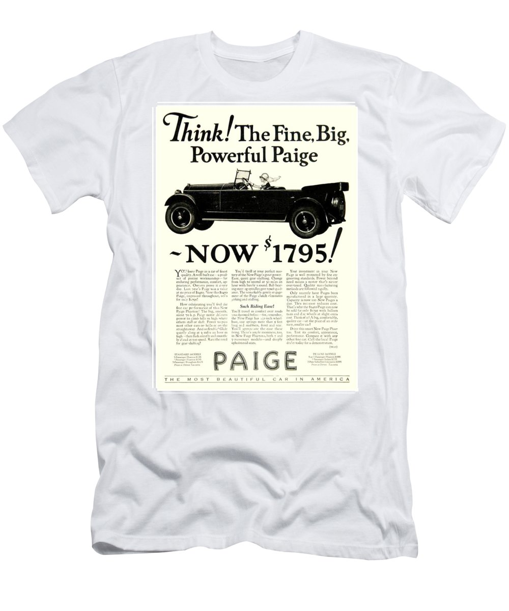 1924 Men's T-Shirt (Athletic Fit) featuring the digital art 1924 - Paige Automobile Advertisement by John Madison
