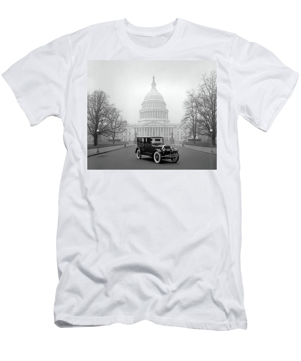 Ford Men's T-Shirt (Athletic Fit) featuring the photograph 1924 Ford Lincoln At U. S. Capitol by Daniel Hagerman