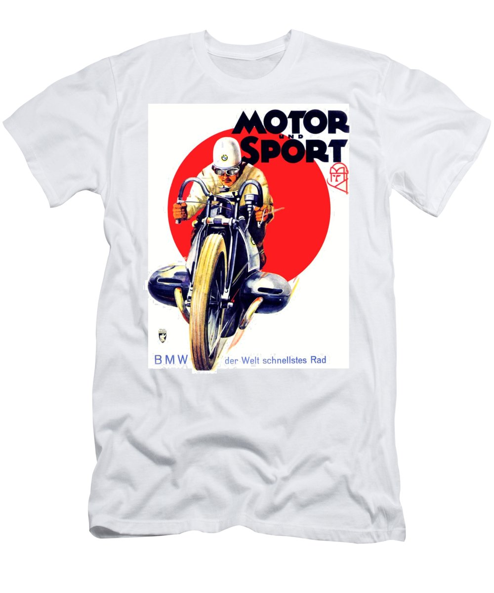 1929 Bmw Motorcycle Poster Color 1929 Men S T Shirt Athletic Fit