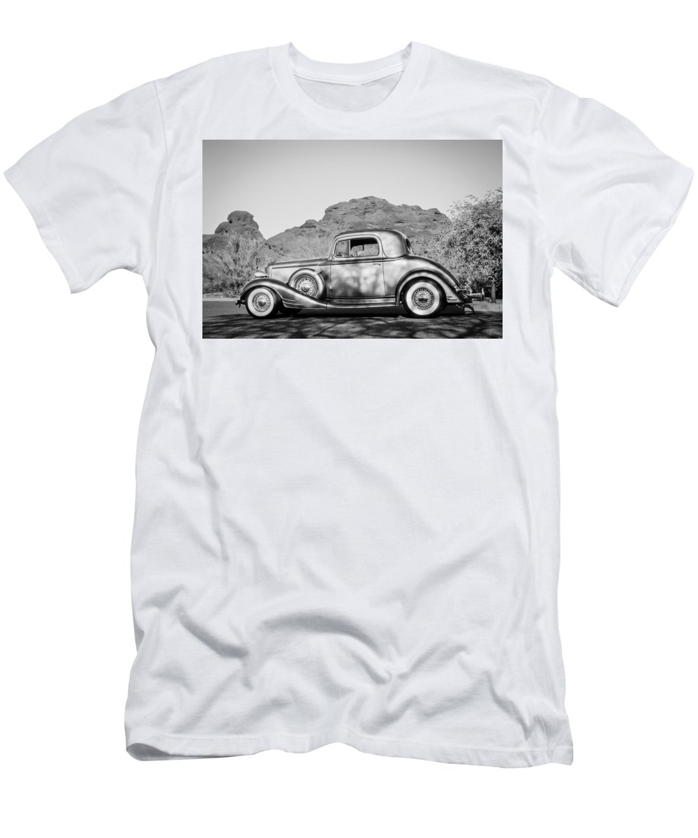 1933 Pontiac Men's T-Shirt (Athletic Fit) featuring the photograph 1933 Pontiac -0008bw by Jill Reger