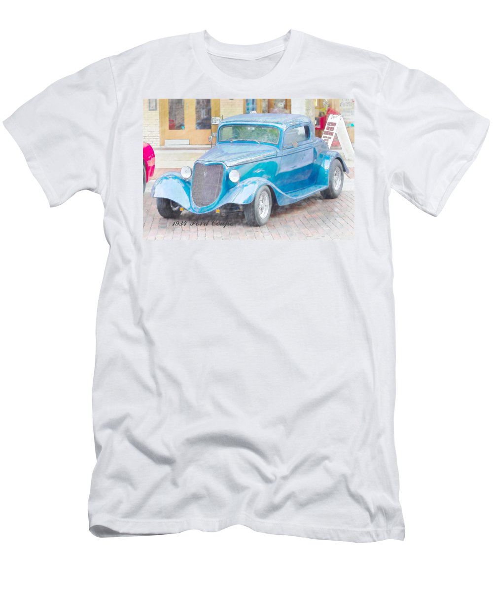 Ford Men's T-Shirt (Athletic Fit) featuring the photograph 1934 Ford Coupe by J Darrell Hutto