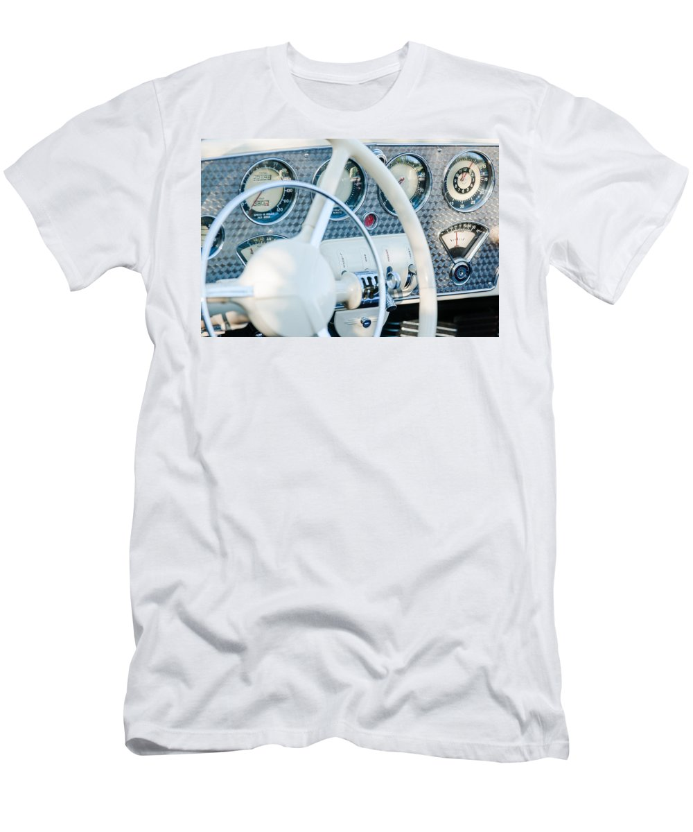 1937 Cord 812 Phaeton Dashboard Instruments Men's T-Shirt (Athletic Fit) featuring the photograph 1937 Cord 812 Phaeton Dashboard Instruments by Jill Reger