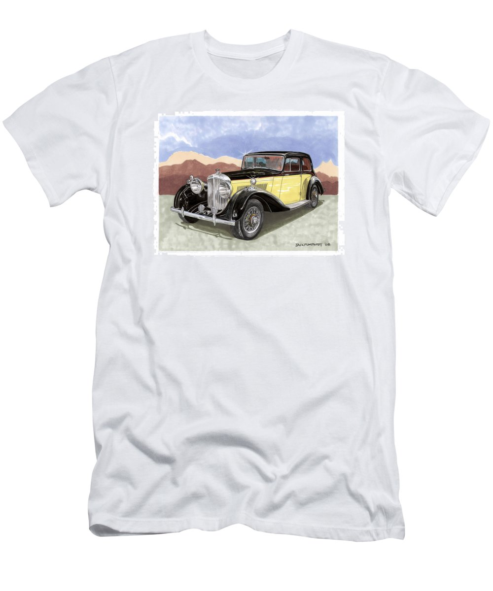 1939 Bentley Mk Iv Sport Sedan Men's T-Shirt (Athletic Fit) featuring the photograph 1939 Bentley Mark Four Sport Sedan by Jack Pumphrey