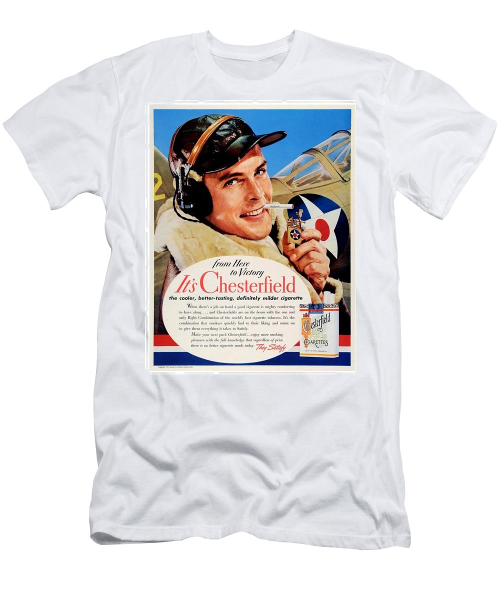 01a70404 Chesterfield Men's T-Shirt (Athletic Fit) featuring the digital art 1942 -  Chesterfield