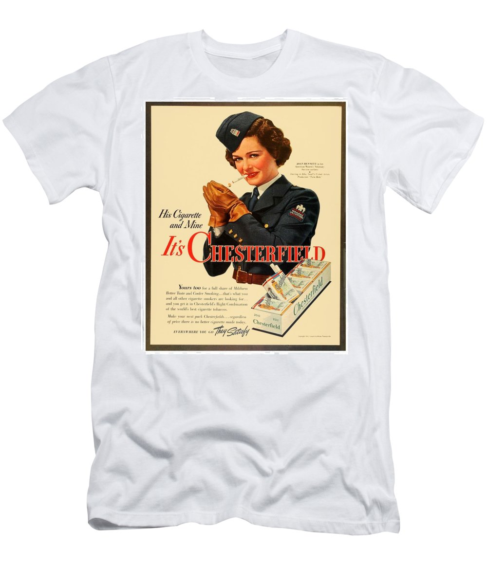 58c0842d Joan Bennet Men's T-Shirt (Athletic Fit) featuring the digital art 1942 -