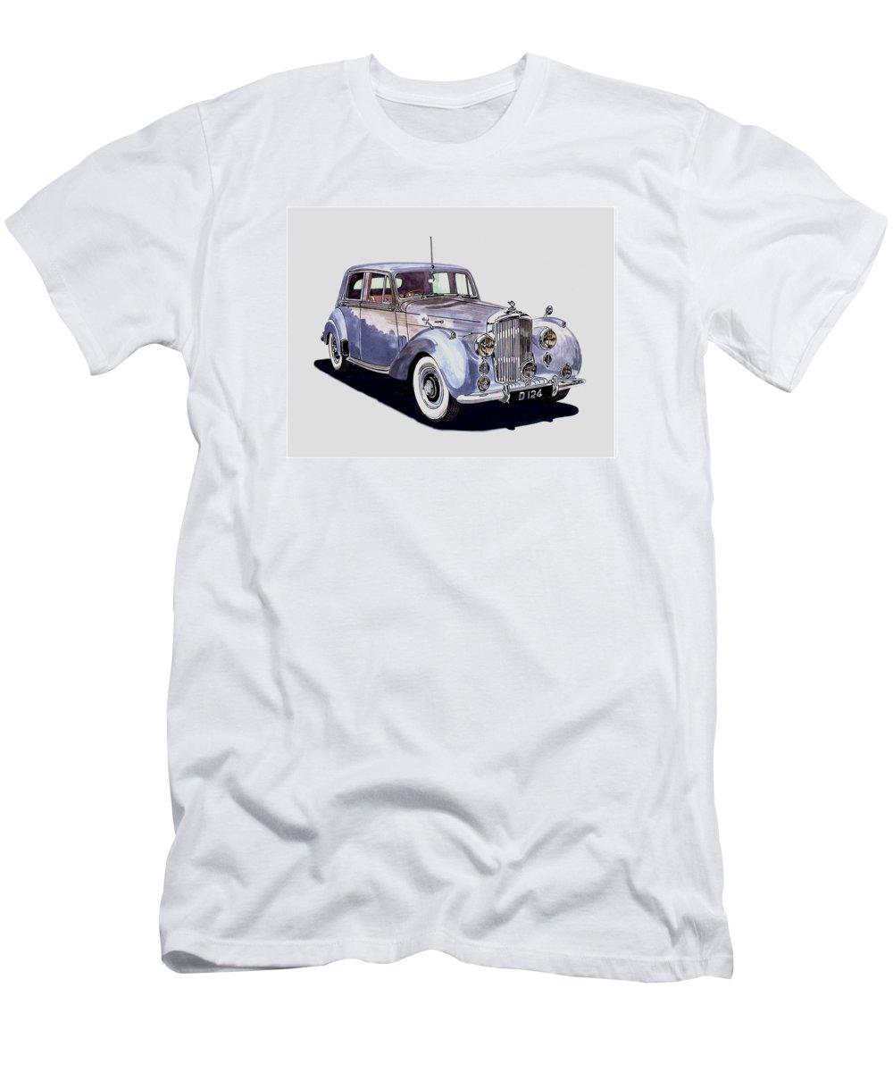 1952 Bentley Mk Iv Sedan Art By Jack Pumphrey Men's T-Shirt (Athletic Fit) featuring the painting 1952 Bentley M K Four by Jack Pumphrey