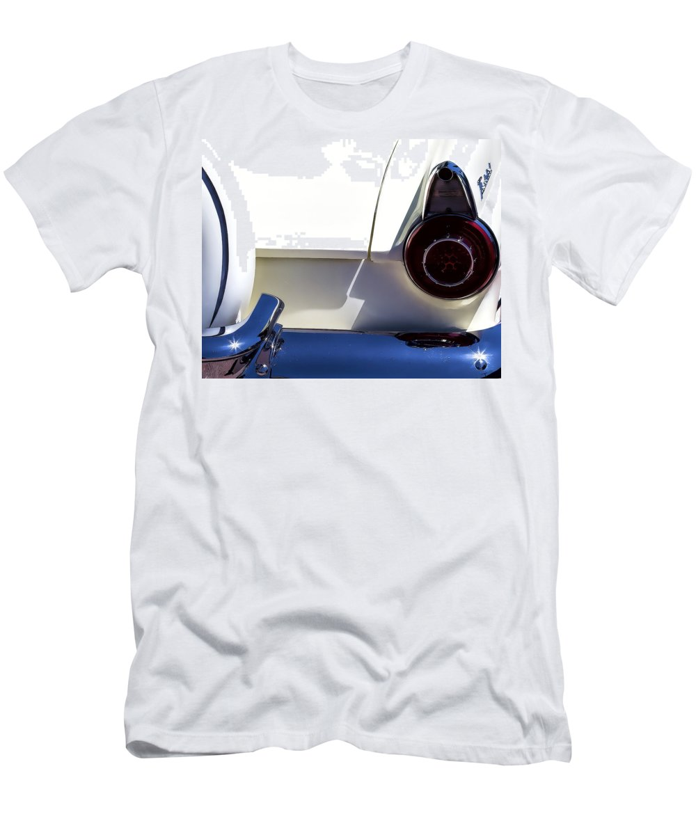 Ford Men's T-Shirt (Athletic Fit) featuring the photograph 1956 Ford Thunderbird by Terry Fiala