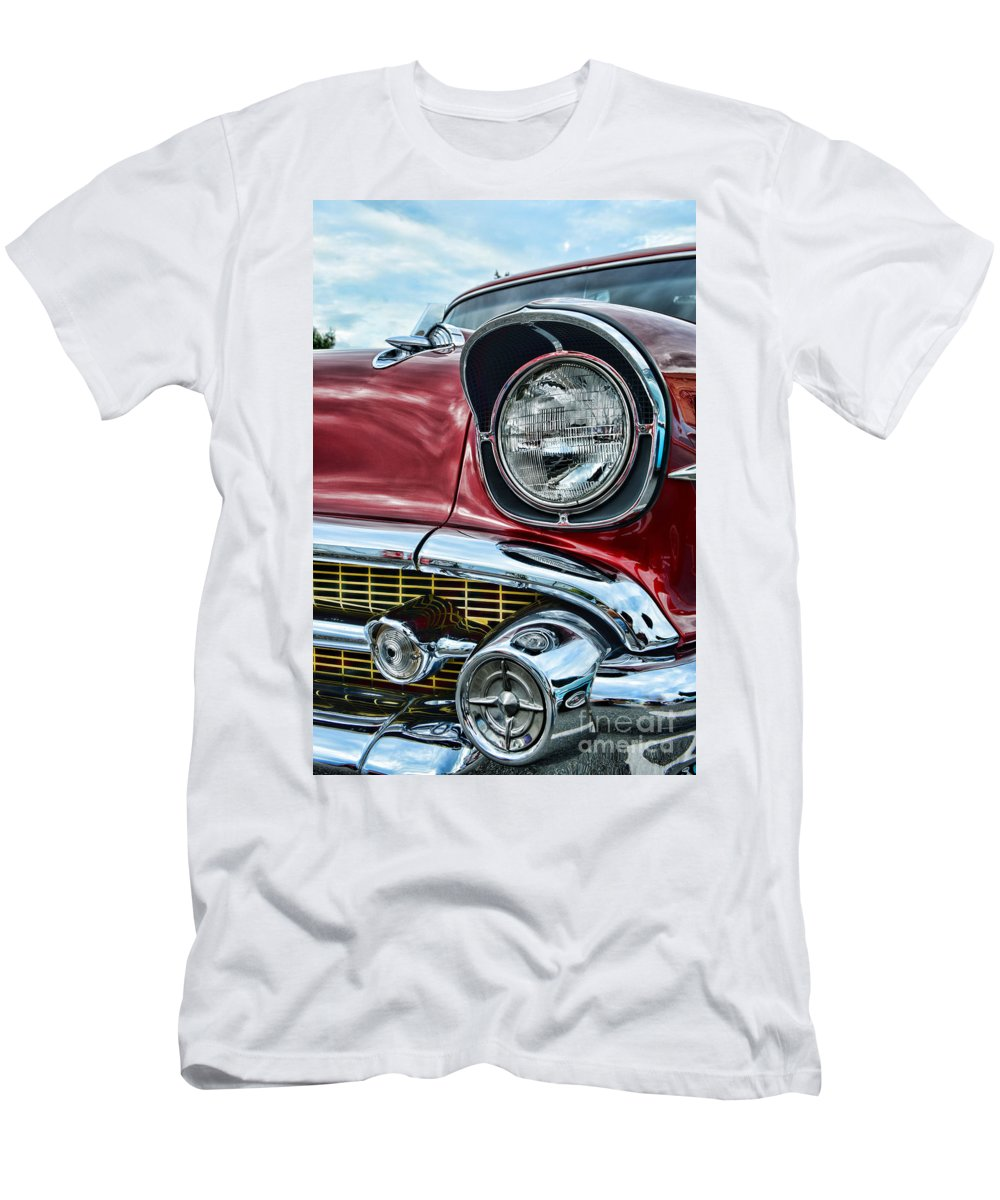 Paul Ward Men's T-Shirt (Athletic Fit) featuring the photograph 1957 Chevy - My Classic Car by Paul Ward