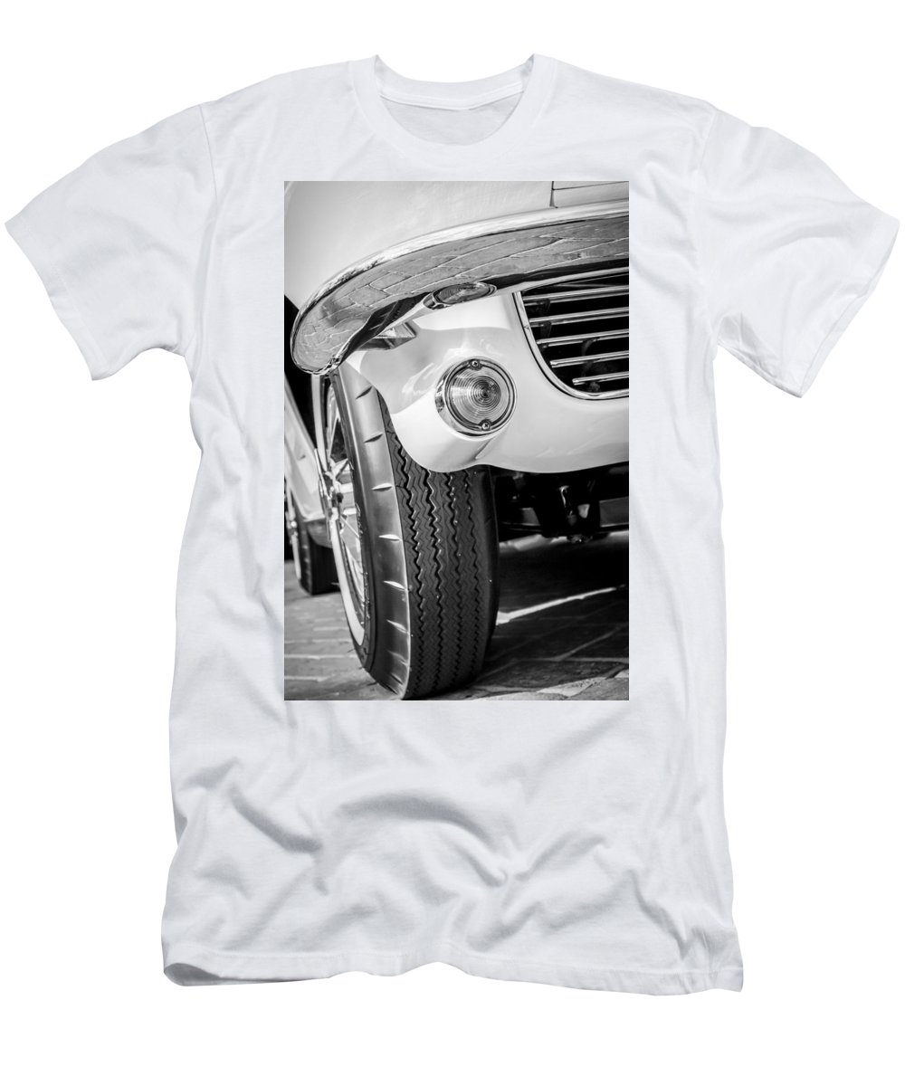 1963 Chevrolet Corvette Split Window Grille Men's T-Shirt (Athletic Fit) featuring the photograph 1963 Chevrolet Corvette Split Window Grille -209bw by Jill Reger