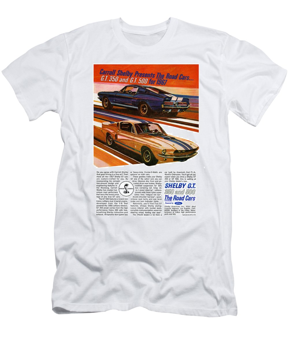 1967 ford mustang shelby gt350 and gt500 t shirt for sale by digital repro depot