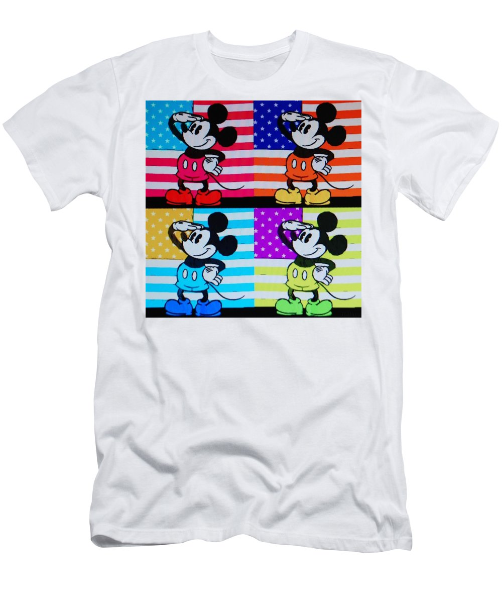 Mickey Mouse Men's T-Shirt (Athletic Fit) featuring the photograph American Mickey by Rob Hans