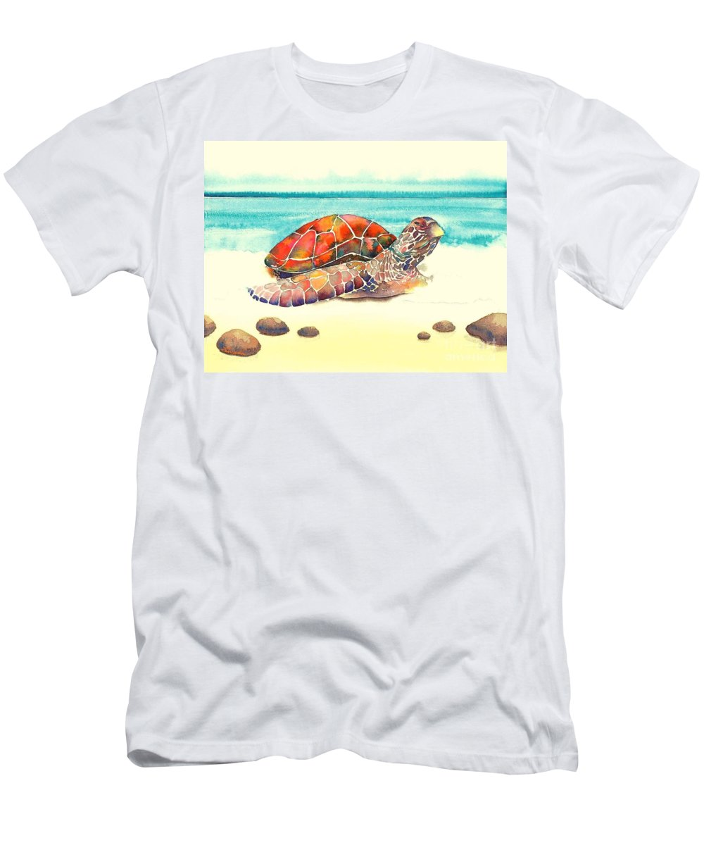 Nature Men's T-Shirt (Athletic Fit) featuring the painting Arrival by Frances Ku